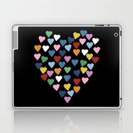 Hearts Heart Black Laptop & iPad Skin
