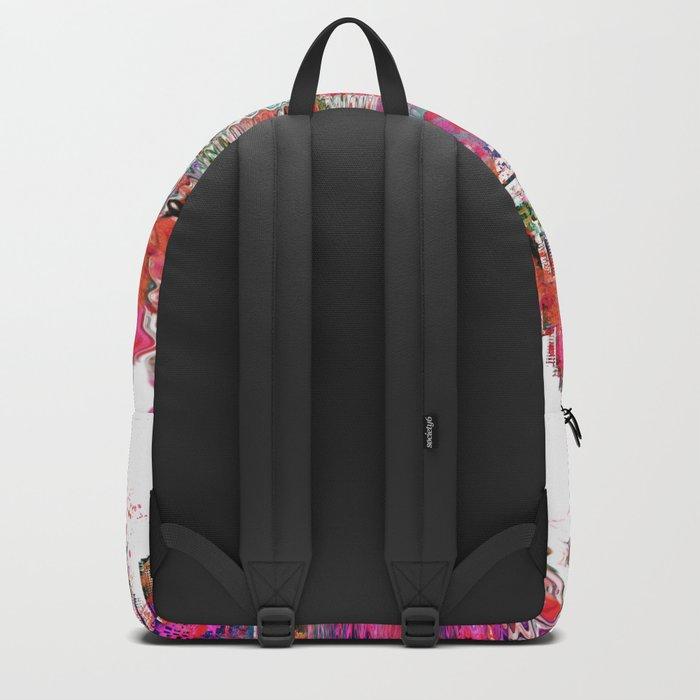 Utopia mixed media city art Backpack