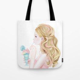 A blonde sweet lady Tote Bag