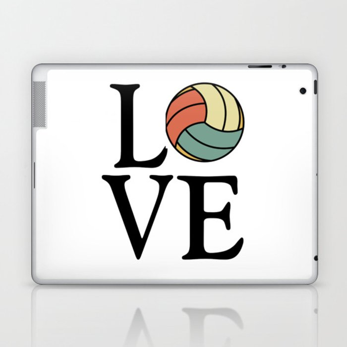 Volleyball Love Vintage Sport Ball Design Laptop Ipad Skin By Teeshirtmadness Society6