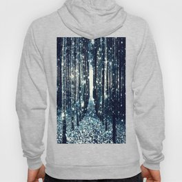 Magical Forest Teal Gray Elegance Hoody