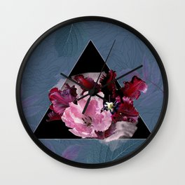 Oxblood Tulips Wall Clock