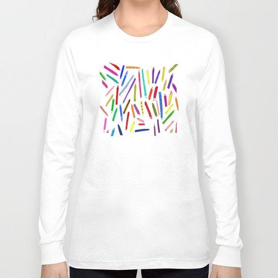 Fun loving crayons Long Sleeve T-shirt