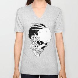 Skull #7 (Creeping Hands) Unisex V-Neck