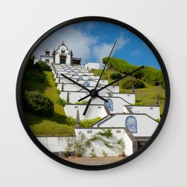 Chapel in Azores islands Wall Clock