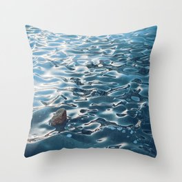 Frozen Waves Throw Pillow