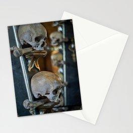 Sedlec Ossuary Skulls Photo Art, Skull Bone Church Stationery Cards