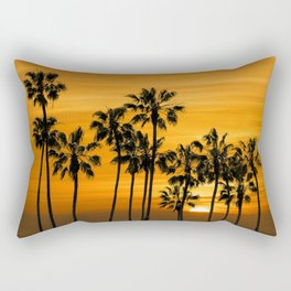 Palm Trees at Sunset by Cabrillo Beach Los Angeles California Rectangular Pillow