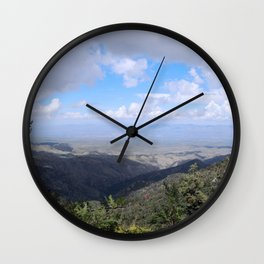 Beautiful View from Mount Lemmon Wall Clock
