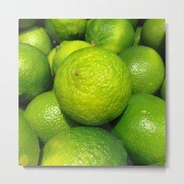Zesty Limes - Vectorized Photographic Image  Metal Print