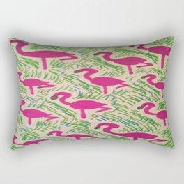Tropical Flamingos Rectangular Pillow