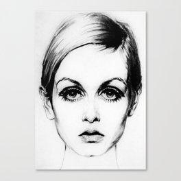60's Eyelashes Canvas Print