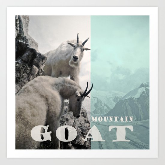 Goats in the Mountains Art Print
