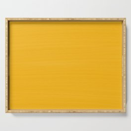 Sun Drenched Honey Mustard - Subtle Brush Texture Serving Tray