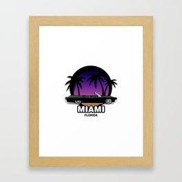 Miami muscle car Framed Art Print