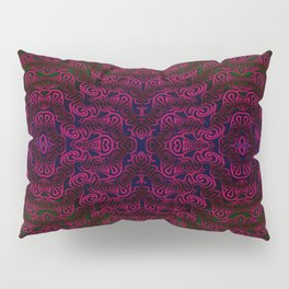 Dark red patterns Pillow Sham