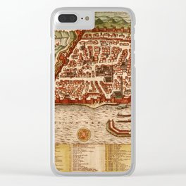 Map Of Algiers 1541 Clear iPhone Case
