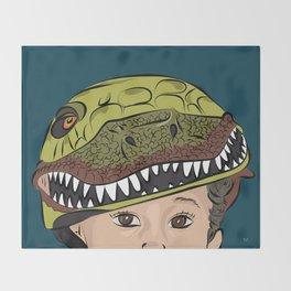 The Dino Helmet Throw Blanket
