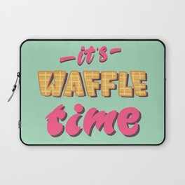 It's waffle time lettering Laptop Sleeve