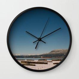 Vancouver snow Wall Clock
