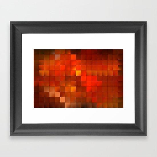 light squares Framed Art Print