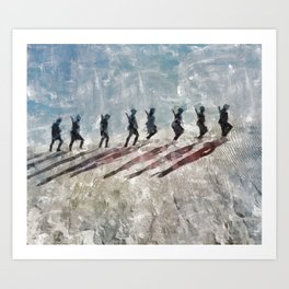 The Long Walk, World War Two Art Print