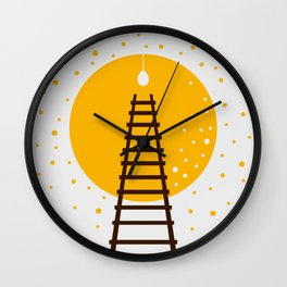 Ladder and Lamp Wall Clock