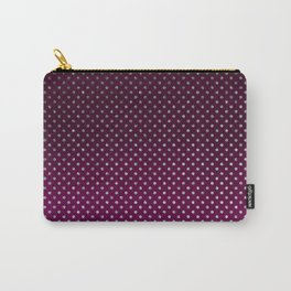 Stylish silver glitter burgundy ombre polka dots Carry-All Pouch