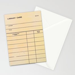 Library Card BSS 28 Stationery Cards