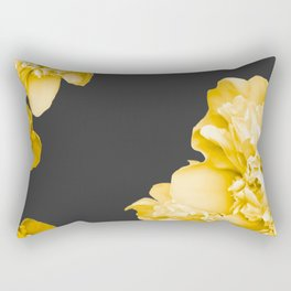 Yellow Flowers On A Dark Background #decor #society #homedecor Rectangular Pillow