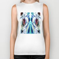 pain Biker Tanks featuring Pain by Robin Curtiss