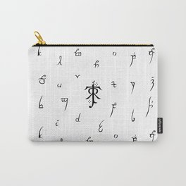A Guide to Elvish Letters Carry-All Pouch