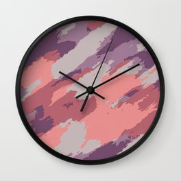 purple pink and brown painting abstract background Wall Clock
