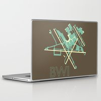50s Laptop & iPad Skins featuring Baltimore-Washington (BWI) - 50s by Kyle Rodgers