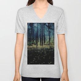 Twilight Fireflies Unisex V-Neck