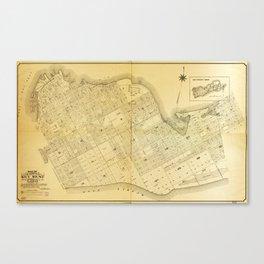 Map of Key West, Florida (1906) Canvas Print