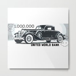 $1,000,000 World Bank Note Money Metal Print