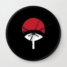 Uchiha Clan Logo Wall Clock