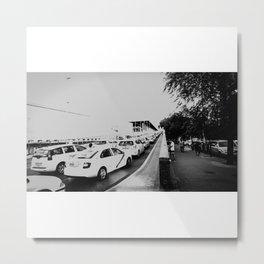 Amor y taxis Metal Print