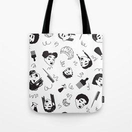 Curl Pattern Tote Bag