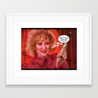 jessica lange Framed Art Prints featuring Don't fuck with the Lange by Sabuchan