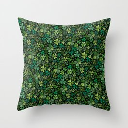 Luck in a Field of Irish Clover Throw Pillow