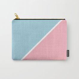 Light Pink and Ice Blue Abstract Carry-All Pouch