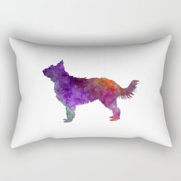 Picardy Sheepdog in watercolor Rectangular Pillow