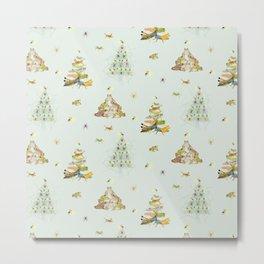 Critters Creating Christmas Trees Metal Print