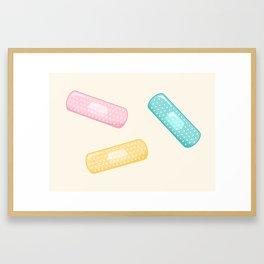 Pastel Plasters Framed Art Print