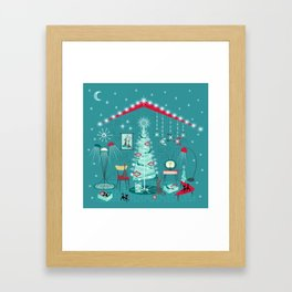 Retro Holiday Decorating ii Framed Art Print