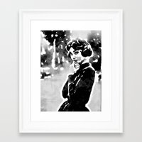 Framed Art Prints featuring Audrey Hepburn by Wara Yoo