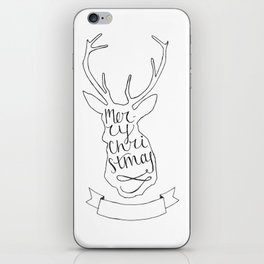 Merry Christmas Deer (1) iPhone Skin