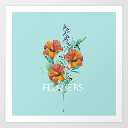 Hibiscus Bouquet Art Print